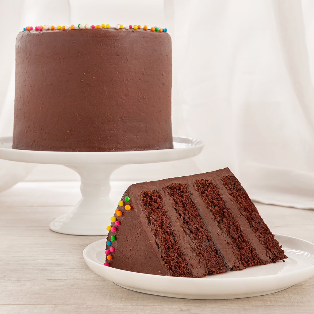 Vegan Chocolate 4-Layer Cake