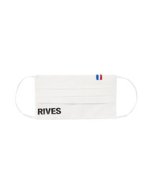 MASQUE COTON BLANC LOGO RIVES