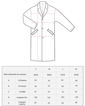 MANTEAU CHESTER ROUGE