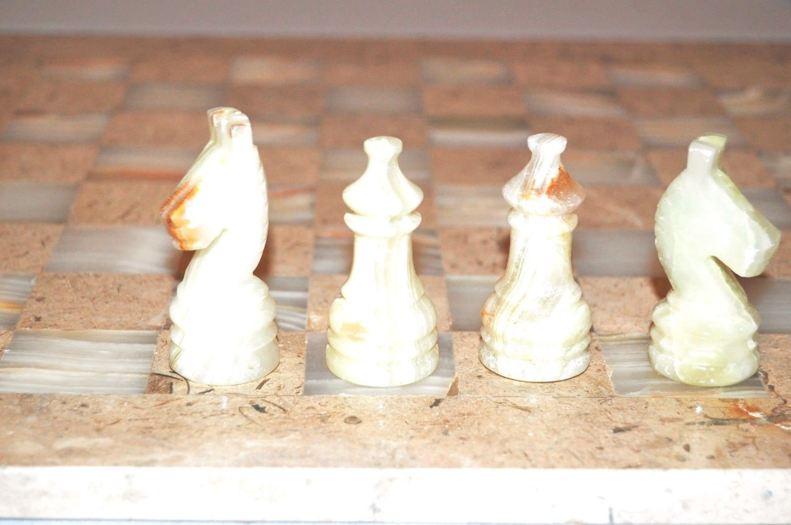 Onyx Marble chess Set  with gift box 16x16