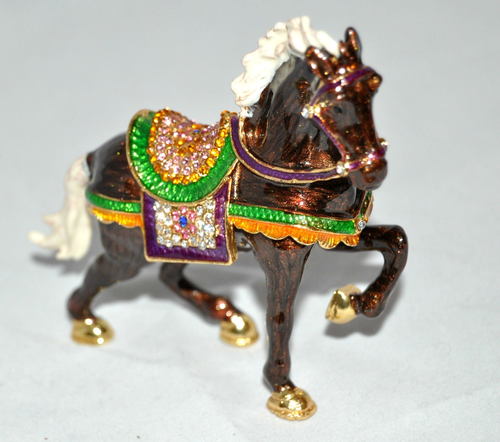 Brown Gold Horse Jewelry