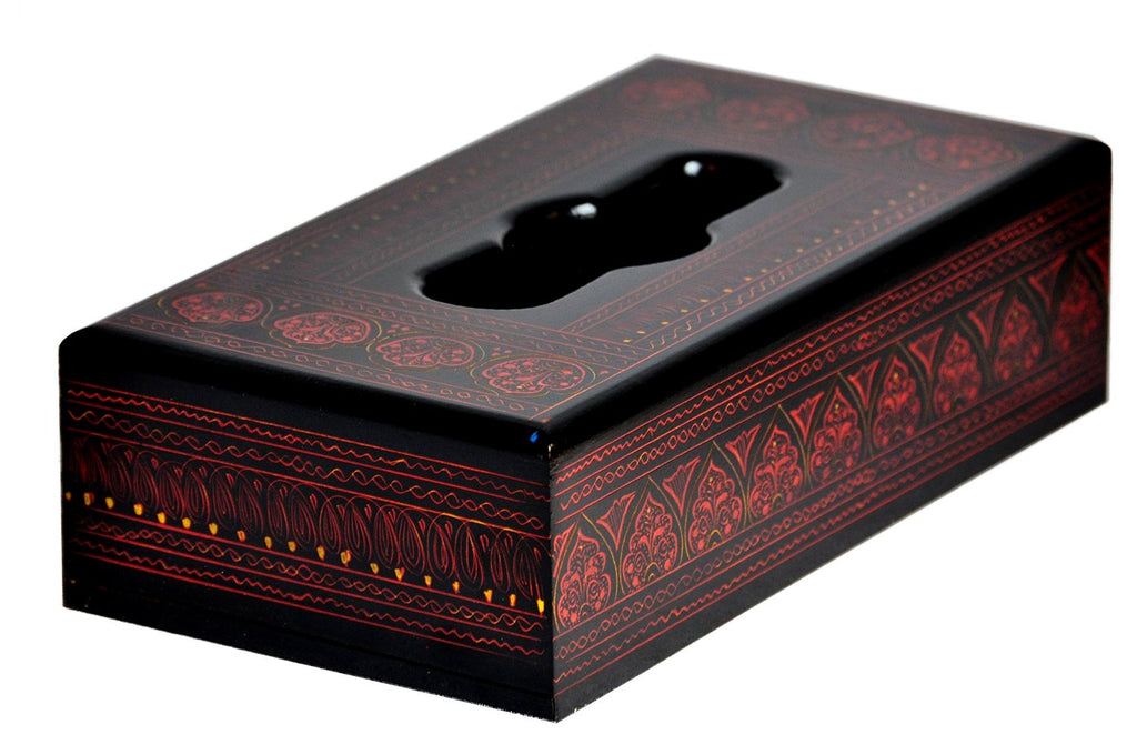 Lacquer Art Tissue Box cover - Red