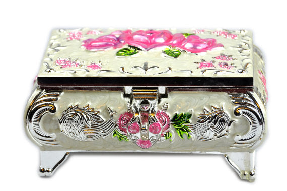 Russian Rose jewelry box Pink