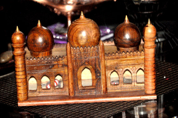 Badshahi Mosque Lahore Pakistan- Wooden Decoration