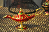 Legend Aladdin Genie lamp decorative. RED
