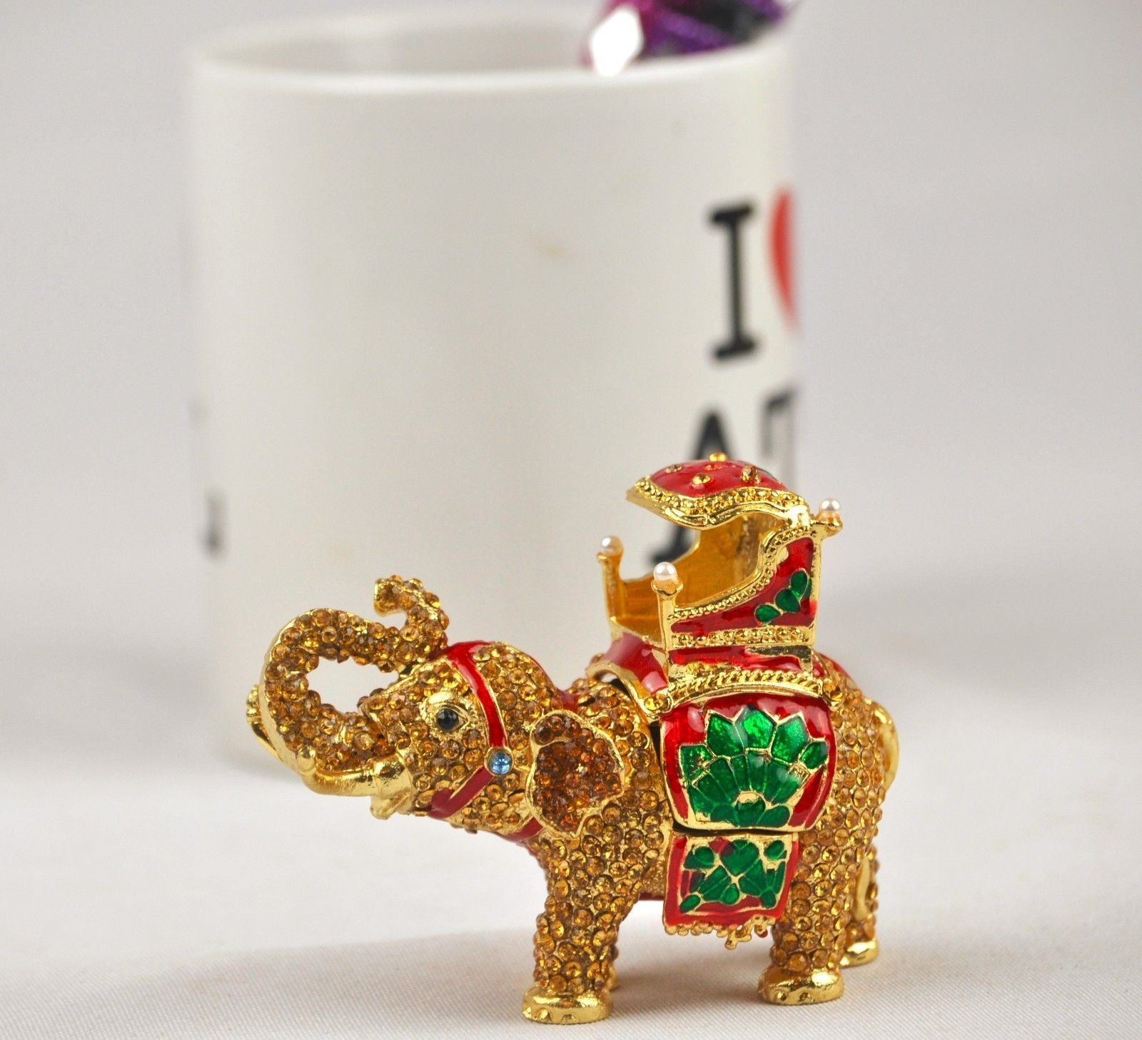 Decorative Small Elephant trinket box.