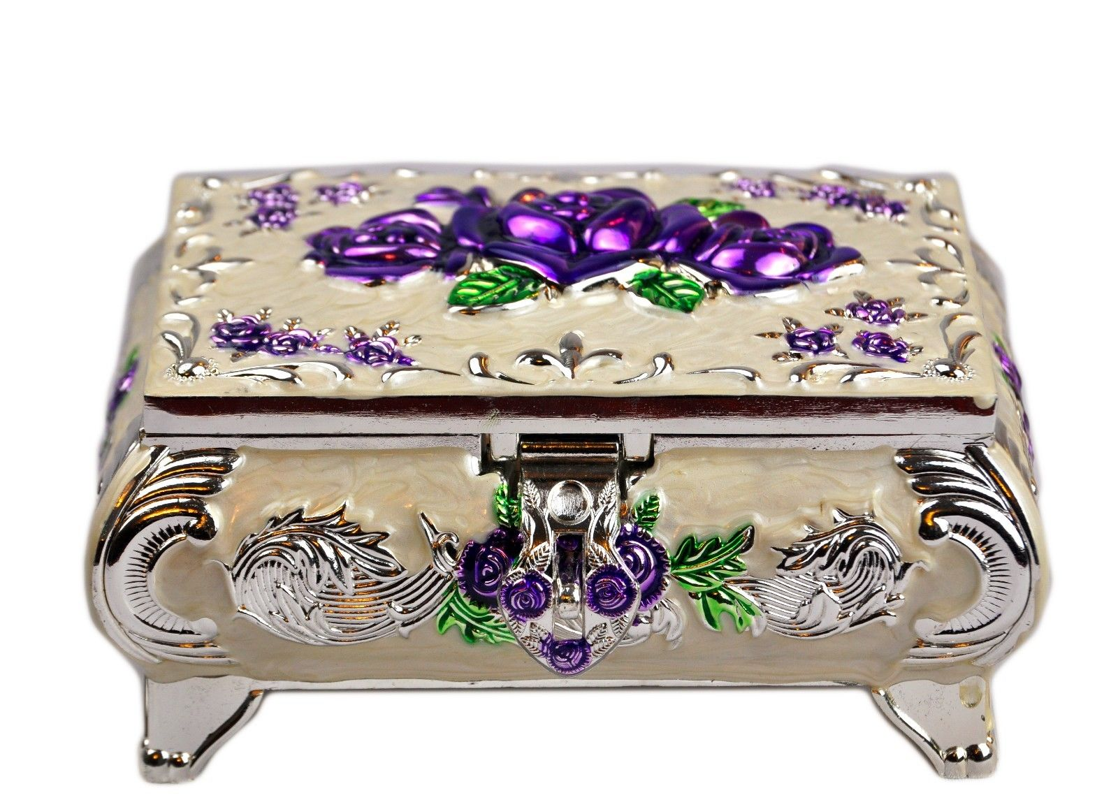 Russian Rose jewelry box Purple