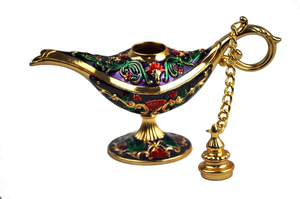 Legend Aladdin Genie lamp decorative. purple