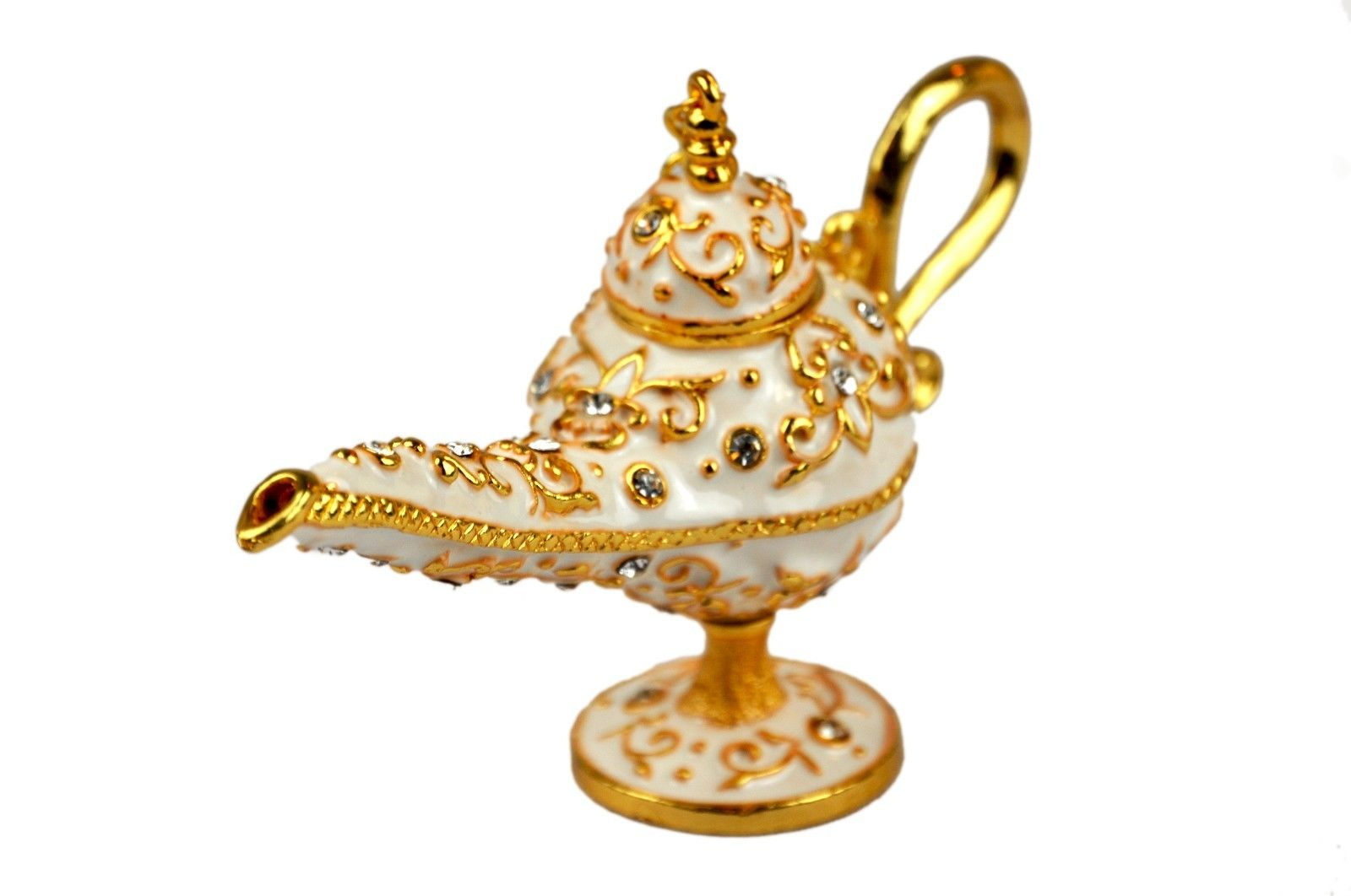 Legend Aladdin Genie lamp decorative. White