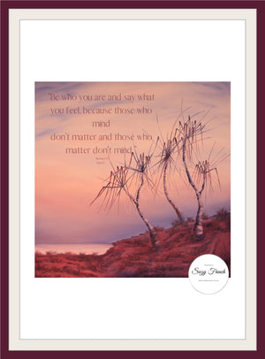 "Dawn pandanus - ""be who you are"" - downloadable -"
