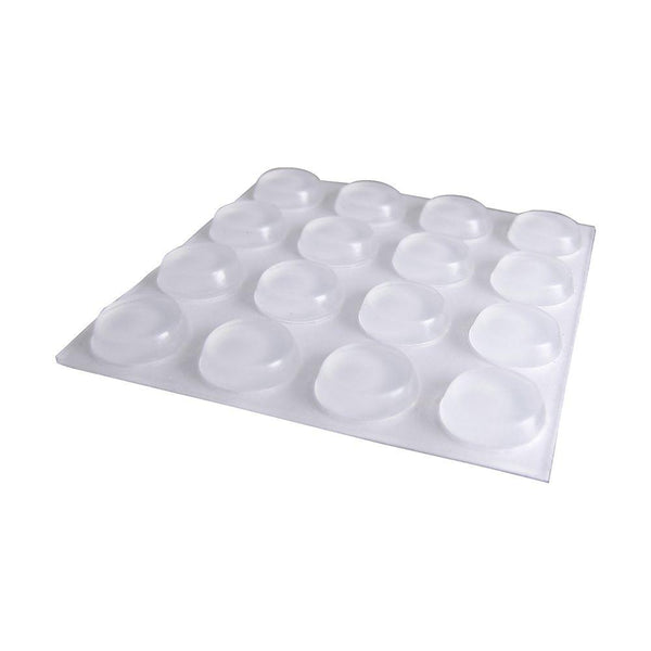 Everbilt 1/2 in. Self-Adhesive Clear Surface Bumpers (16 per Pack)