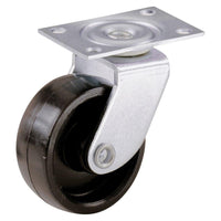 Everbilt 1-5/8 in. Plastic Swivel Plate Casters with 50 lb. Load Rating (4 per Pack)