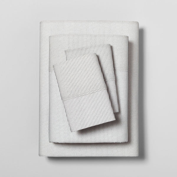 Microstripe Printed Organic Sheet Set - Hearth & Hand™ with Magnolia