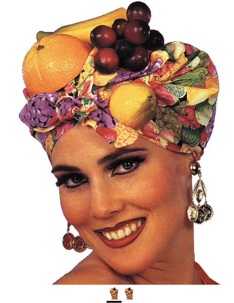 Latin Lady Fruit Headpiece (As Shown;One Size)