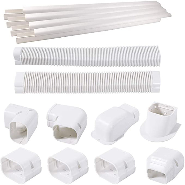 TAKTOPEAK Quick Installation PVC Decorative Line Cover Kit for Ductless Mini Split Air Conditioners