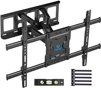 Full Motion TV Wall Mount Bracket Dual Articulating Arms Swivels Tilts Rotation