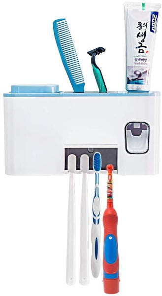 Surfans Exclusive UV Toothbursh Sterilizer, Toothbrush Holder, with Wall Mounted