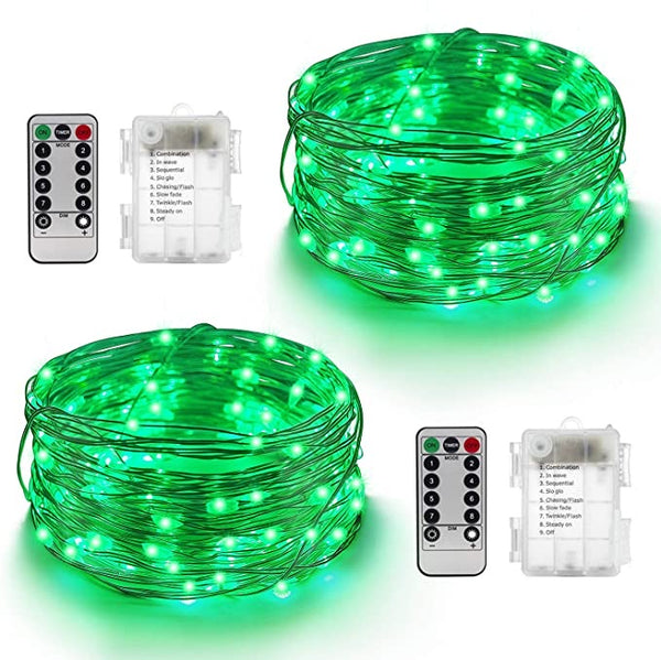 airy String Lights, 2 Pack 16ft Battery Operated Twinkle Lights with Remote,50Leds Firefly Lights