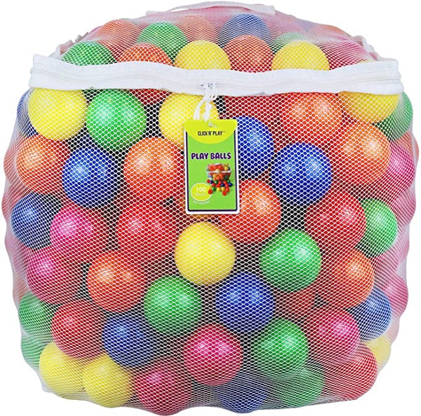 Click N' Play Pack of 100 Phthalate Free BPA Free Crush Proof Plastic Ball