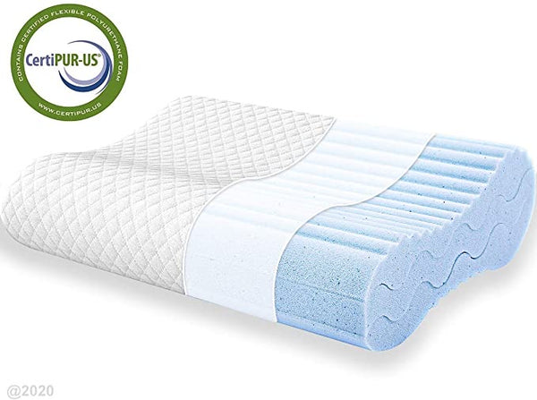 POLAR SLEEP Contour Memory Foam Pillow, Adjustable Sandwich Pillow, Orthopedic