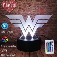 DC Comics Wonder Woman Logo Symbol Superhero Justice League Funny 3D Visual