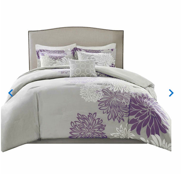 Comfort Spaces Enya 5 Piece Comforter Set Ultra Soft Hypoallergenic Microfiber