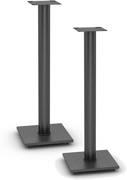 Atlantic Adjustable Speaker Stands 2-Pack Black - Steel Construction, Pedestal Style & Wire Management for Bookshelf Speakers up to 20 lbs