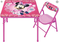 Minnie Mouse Kids Table & Chair Set, Junior Table for Toddlers Ages 2-5 Years