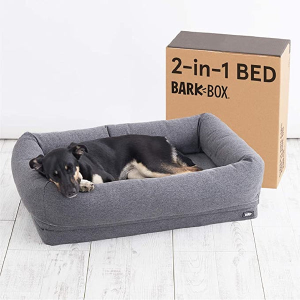 Barkbox 2-in-1 Memory Foam Dog Cuddler Bed