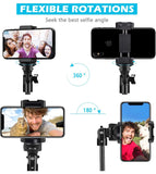 "Selfie Stick Tripod, UBeesize 51"" Extendable Tripod Stand with Bluetooth Remote"