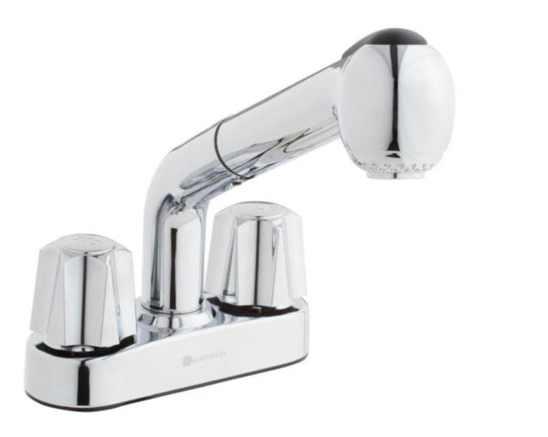 Glacier Bay 4 in. Centerset 2-Handle Faucet in Chrome