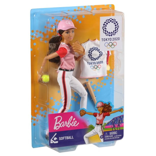Barbie Olympic Games Tokyo 2020 Softball Doll and Accessories