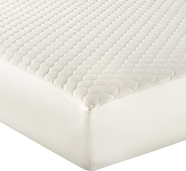 Whisper Organics 100% Organic Cotton Quilted Fitted Mattress Pad Cover (Twin XL Size)