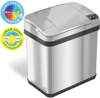 iTouchless 2.5 Gallon Sensor Garbage Can with Odor Filter and Fragrance, Touchless Automatic Trash Bin