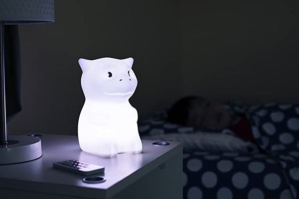 LED Nursery Night Light for Kids LumiPets Cute Animal Silicone Baby Night Light with Touch Sensor