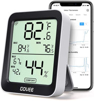 Govee Thermometer Hygrometer, Accurate Indoor Temperature Humidity Sensor with Notification Alert