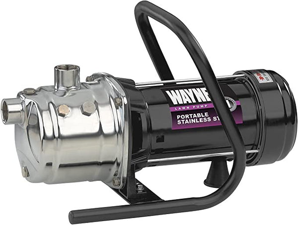 WAYNE PLS100 1 HP Portable Stainless Steel Lawn Sprinkling Pump