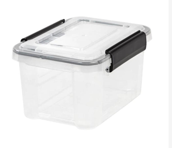 6.5-Qt. Weathertight Storage Box in Clear by IRIS