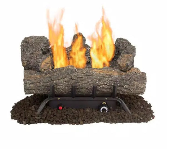 Southern Oak 19.75 in. Vent-Free Dual Fuel Gas Fireplace Logs by Pleasant Hearth