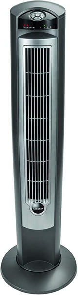 "Lasko Portable Electric 42"" Oscillating Tower Fan with Nighttime Setting"
