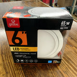 Globe Electric Designer Slim Directional 6 in. White Integrated LED Recessed Kit