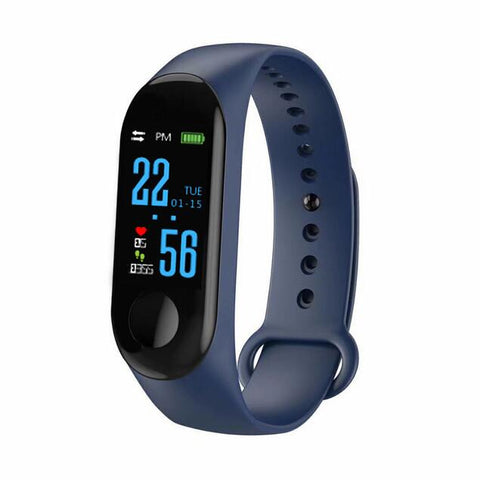 Bluetooth Unisex Silicone  Bracelet Smartwatch Android and IOS Smartwatch