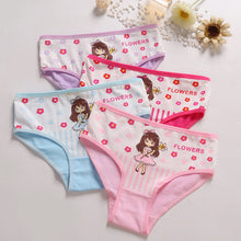 Load image into Gallery viewer, 4 Pcs/Lot Cotton Soft Panties For Girls Lovely Baby Girls Underwear Cartoon Cat Briefs Breathable Children Panty Kids Underpants - amalkids
