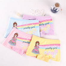 Load image into Gallery viewer, 4 Pieces/lot New Design Children Girl Panties Cotton Soft Pretty Cartoon Child Underwear for kids Boxer girls Panties Breathable - amalkids