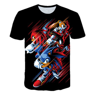 3D Boys Mario Supersonic sonic Print Girls Funny T-shirts Costume Children 2020 summer Clothing Kids Clothes Baby Tshirts street - amalkids
