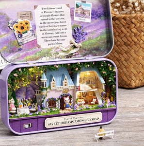 Box Theatre Diy Wooden House for Dolls Miniature Home 13 Styles Nostalgic Theme Doll House Furniture Accessories Toys for Kids - amalkids