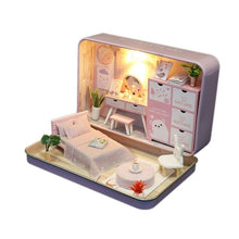 Load image into Gallery viewer, Box Theatre Diy Wooden House for Dolls Miniature Home 13 Styles Nostalgic Theme Doll House Furniture Accessories Toys for Kids - amalkids