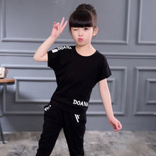 Load image into Gallery viewer, New Summer Girls Clothes Sets Children's Clothing Set Short Sweatshirt + Pants 2 Piece Baby Girl Clothes 3 4 5 6 8 9 10 12 Years - amalkids