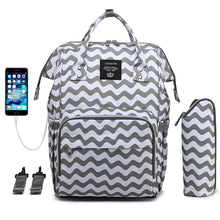 Load image into Gallery viewer, Mummy bag USB Diaper Bag Baby Care Large Capacity Mom Backpack Mummy Maternity Wet Bag Waterproof Baby Pregnant Bag - amalkids
