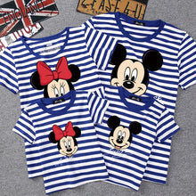 Load image into Gallery viewer, Summer Family Matching Outfits Mommy Daddy Kid Son Baby T-Shirt Shirts Family Clothes Child Mickey Minnie Tops Photography - amalkids